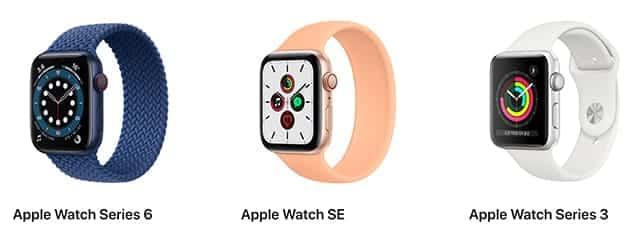 애플 워치 가격 및 기능 차이