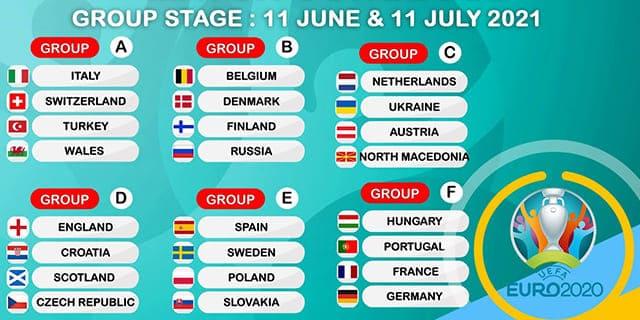유로 2020 경기 일정