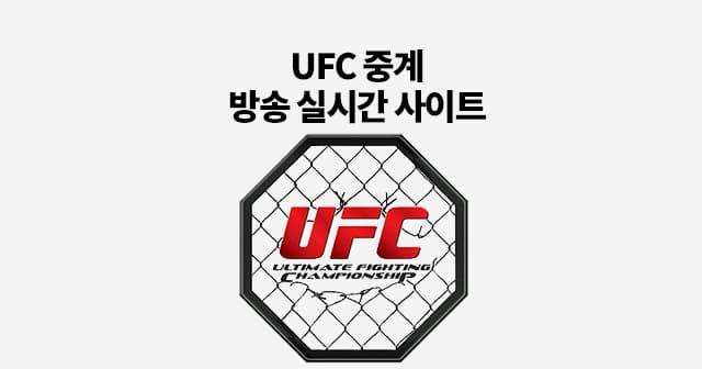 UFC 중계 무료 실시간 사이트